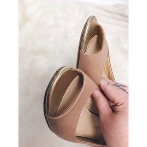 Cole Haan Shoes - Cole Haan Astoria Leather Peep Toe Ballerina Flat
